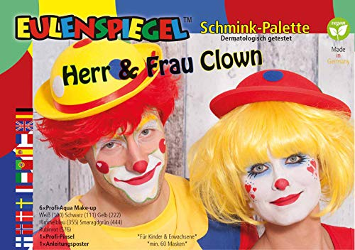 Eulenspiegel Herr und Frau Clown Schminkpalette