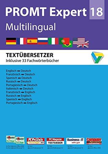 PROMTExpert 18 Multilingual: Software für Übersetzer. Sprachen: Deutsch, Englisch, Französisch, Spanisch, Russisch, Italienisch und Portugiesisch. ... Studio Integration. Für Windows 7, 8 und 10.