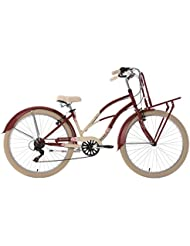 KS Cycling Kahuna Vélo Cruiser Femme, Rouge