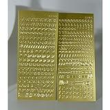 Sticker Buchstaben-Set, Gold - Groß- und Kleinbuchstaben mit Zahlen - 9698 - zum Beschriften von Kerzen