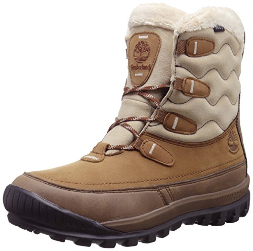 Timberland Women's Woodhaven Mid WP Insulated Winter Boot, Brown, 11 M US Marrone