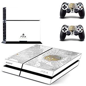 Playstation 4 + 2 Controller Aufkleber Schutzfolie Set – Destiny (3) /PS4