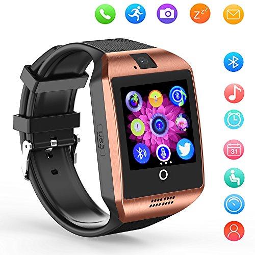 Bluetooth Smartwatch Touchscreen Kamera Wasserdicht Smart Uhr Sport Fitness Smart Watch mit Whatsapp Handy Uhr Bluetooth Uhr Intelligente Armbanduhr Kompatibel IOS Iphone Andriod für Herren Damen Kin (Bluetooth-uhr)