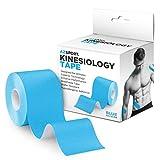 AZSOPRT Kinesiologisches Tape für Sport und Therapie, ungeschnittene Rolle, 2 Zoll x 16 Fuß (ca. 5,08 cm x 4,88 m), Blau