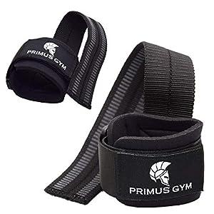 PRIMUS GYM Zughilfen mit Handgelenkpolster Comfort Zughilfe für Krafttraining, Fitness, Bodybuilding und Gewichtheben – für Frauen und Männer