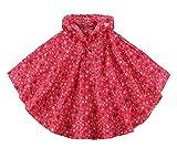 Kinder bunter großer Punkt-Regen-Poncho-Mädchen-Jungen-regendichter Studenten Rainsuit-Kinderregenmantel-mit Kapuze Jacke im Freien radierender Regen-Mantel Rote Sterne XL