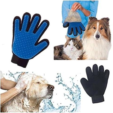 Fellpflege Massage Handschuh Bürste & #-; Haar Entferner Baden-Pinsel-Set für lange und kurze Haare Hunde, Pferde, Hasen & #-; CAT.
