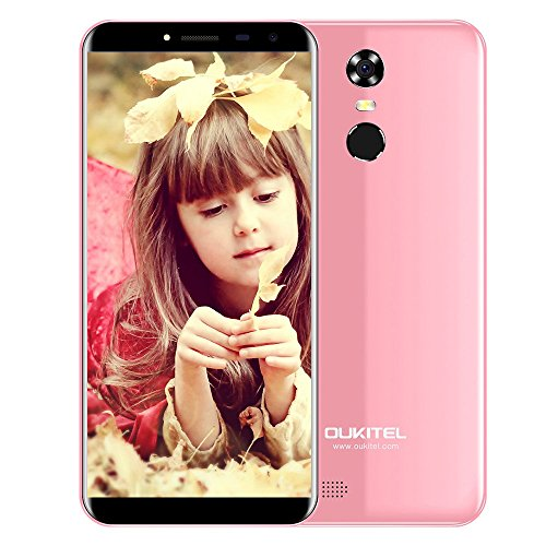 OUKITEL C8 3G Smartphone 5,5 Zoll 2.5D Bogen Screen Android 7,0 MTK6580A 1,3 GHz Quad Core 2 G RAM 16 G ROM (Rosa)