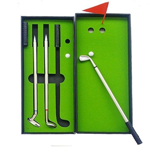 Crestgolf - Lot de trois stylos à bille en forme de club de golf
