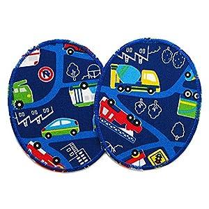 Set 2 Knieflicken Auto Flicken zum aufbügeln für Kinder
