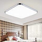 HENGDA 36W Weiß LED Deckenleuchte Deckenlampe Deckenlampe Wohnraumleuchte Beleuchtung Modern Energiespar Licht aus Aluminium Für Wohnzimmer Schlafzimmer Flur Garderobe [Energieklasse A++]