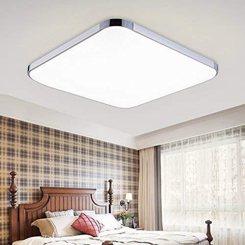 HENGDA 36W Weiß LED Deckenleuchte Deckenlampe Deckenlampe Wohnraumleuchte Beleuchtung Modern Energiespar Licht aus Aluminium Für Wohnzimmer Schlafzimmer Flur Garderobe