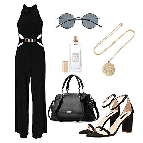 Borse portafogli grandi Yoome per donne Borse portafogli portafogli in pelle per ragazze Portafogli donna - Borgogna Nero