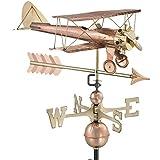 Good directions Biplane con freccia segnavento–in puro rame