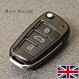 Coprichiave per Audi A1,A3,S3,RS3,A4,S4,RS4,A6,S6,RS6,Q2,Q3,Q5,Q7,TT, TTs, R8,rivestimento di protezione, telecomando a 3pulsanti Size (inch) 2.7 (L) x 1.5 (W) x 0.7 (D) Diamond Black