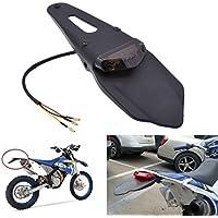 TUINCYN moto parafango posteriore integrato Red Tail Light Lamp freno luci con indicatore di direzione per fuoristrada moto motocross Dirt bike