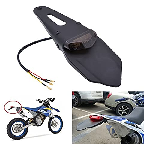 KaTur Feu arrière LED avec bavette pour moto tout terrain