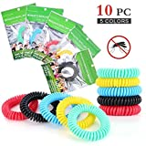 Diswoe Mosquito Repellent Bracelets, Waterproof DEET-FREE Band Pest Control for Kids & Adults