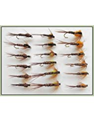 18Faisan queue Nymphe mouches de pêche