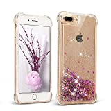Coque iPhone 7 Plus Mosoris Glitter Liquide Motif Mode Coque pour iPhone 8 Plus Skin Shell Bling Brilliant Protection Souple Housse Etui Dynamic Etoiles Paillettes Sable TPU Silicone Transparente Case Cover Housse pour Telephone Apple iPhone 7 Plus / 8 Plus ( 5.5 Pouces ) Scratch Résistance Shockproof Anti Choc Protecteur Cas Couverture Bumper Crystal Flexible Rigide Couverture , Rose
