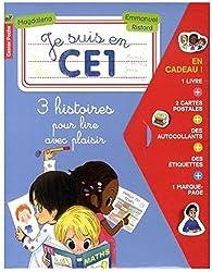 Je suis en CE1 : 3 histoires pour lire avec plaisir : Premier jour de classe ; A la bibliothèque ; La photo de classe
