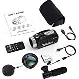 """Docooler Andoer 1080P HD WiFi Digital Video Camera Camcorder DV Recorder 16X Zoom 3.0"""" LCD Touchscreen IR Night Vision with Hot Shoe for External Microphone"""