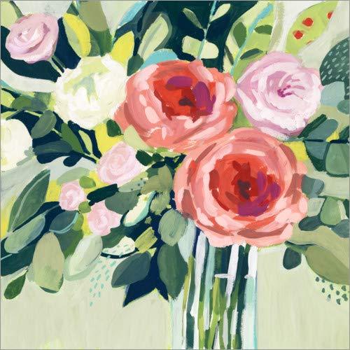 Leinwandbild Pfingstrosen Blumen