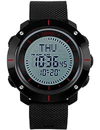 Hombres Multi-función Reloj Digital/Impermeable al Aire Libre Relojes/ brújula del Reloj