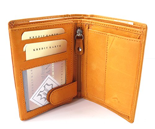 Image of Handy Leather Purse Wallet by Rivaldo 7001BP Tan Men's Wallet