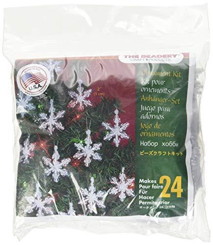 Beadery Kunststoff Holiday Perlen Ornament Kit Mini-Schneeflocken 2Zoll Macht 24 -