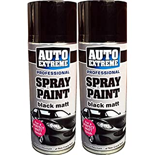 Professional Auto Extreme Black Satin Spray Paint Petrol Resistant Non Crack Formula with Unique Tamper Proof Nozzle 400ml (2)