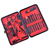 Arfbear Nail Kit Manicure Set Nail Care Kit Professional Grooming Kit Nail Care Personal Manicure & Pedicure Set Nail Care Personal Manicure with PU Leather Case for Men Woman Gift Travel