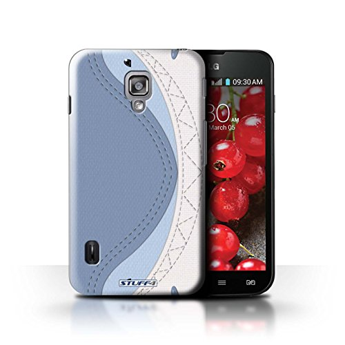 Kobalt® Imprimé Etui / Coque pour LG Optimus L7 II Dual / Tigre conception / Série Cousu des Animaux Effet Requin