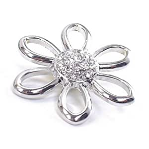 Time4-Charms Chunks Blume mit Strass Knospe für Armband & Kette Druckknopf Charms Click Button 053