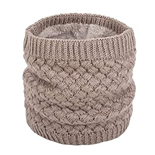 ANGTUO Unisex Knitted Scarf, Thick Winter Neck Warmer Soft Wrap Scarves Loop Infinity Neckerchief for Women and Men Outdoor Sports - Best Gift