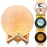 CougarEyes:3D Moon Lampe 18cm ,mondlampe, kinderzimmer LED Nachtlampe 3D für wundervolle Lichtatmosphäre - Große Lampe Mondlicht - Mond Nachtlicht und Licht für Schlafzimmer und Esszimmer ,7,0,inch