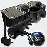Kit de Filtration Bassin 90000l Stérilisateur UVC 72W 115W Pompe éco Fontaine Ecumeur