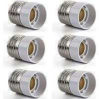 AWE-LIGHT E27 a E14 della lampada LED Base adattatore lampadina convertitore, confezione da 6