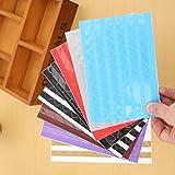 Self Adhesive Kreative Dekorpapier Fotoecken, zufällige Farbe, 102 Pack für jedes Stück / 3PCS