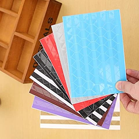 Self Adhesive kreative Dekorpapier Fotoecken , zufällige Farbe, 102 Pack für jedes Stück / 3PCS