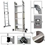 Escalera multifunción plegable PRO – Escalera de Aluminio Altura máx. 4,78 m