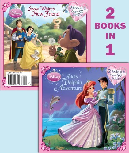Ariel's Dolphin Adventure/Snow White's New Friend [With Sticker(s)] (Disney Princess (Random House Paperback)) by Lyra Spenser (12-Jan-2010) Paperback
