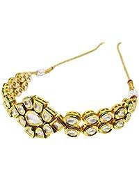 Evogirl Designer Kundan Gold Plated Lotus Design Bajubandh, for Women