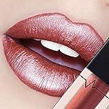 CICIYONER Damen Metall Lippenstift Lip Gloss Liquid Lippe Kosmetik, 24 Farben (13 #)