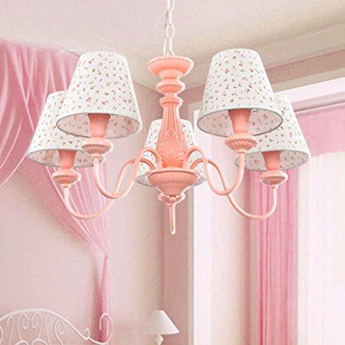 Global- Einfach Niedlich Kronleuchter Prinzessin Mädchen-Kind-Raum Schlafzimmer Arbeitszimmer Lampe Rosa Augen-Tuch-Beleuchtung