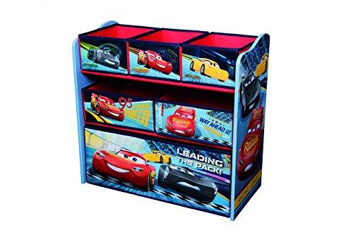 Disney Cars Kinderregal aus Holz mit Aufbewahrungsboxen (Lackierte Aufbewahrungsbox)