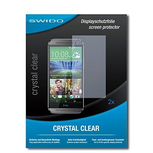 2 x SWIDO® Displayschutzfolie HTC One M8s Schutzfolie Folie