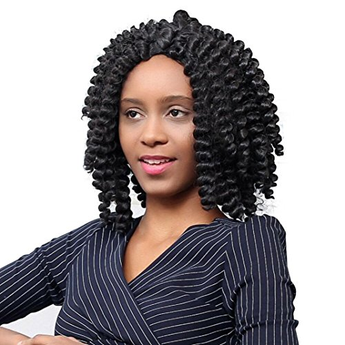 Fulltime (TM)–Afro Kinky rizado peluca con trenzas peluca largo rizado peluca de...