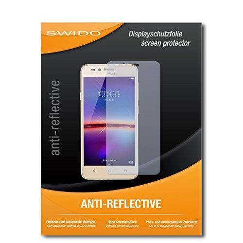 SWIDO Bildschirmschutzfolie für Huawei Y3 II [3 Stück] Anti-Reflex MATT Entspiegelnd, Extrem Kratzfest, Schutz vor Kratzer/Bildschirmschutz, Schutzfolie, Panzerfolie