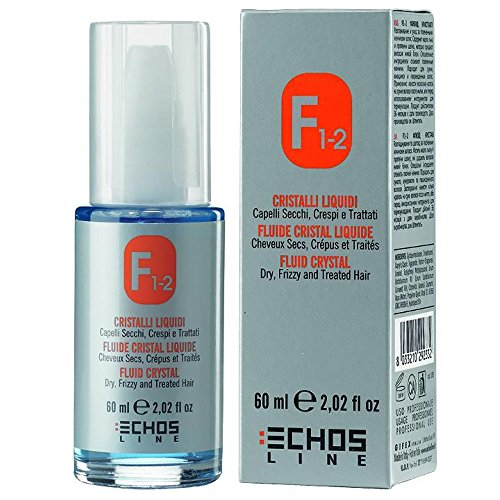 F1-2 Fluid Crystal 60ml Echos Line ® Dry, Frizzy and Treated Hair - Cristalli Liquidi Capelli Secchi, Crespi e Trattati
